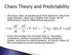 chaos theory and predictability44
