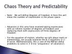 chaos theory and predictability46