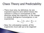 chaos theory and predictability55