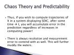chaos theory and predictability67