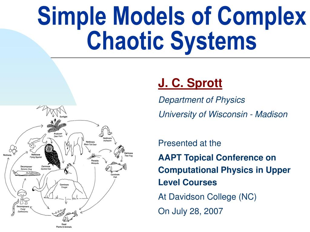simple models of complex chaotic systems l.