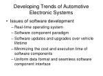 developing trends of automotive electronic systems19
