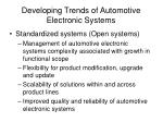developing trends of automotive electronic systems22