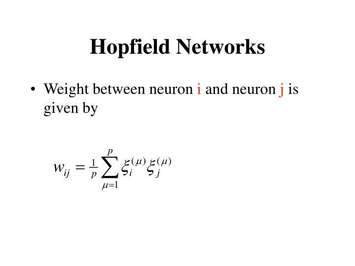 Hopfield Networks