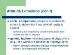 attitude formation con t