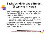 background for two different gi systems in korea20