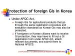 protection of foreign gis in korea
