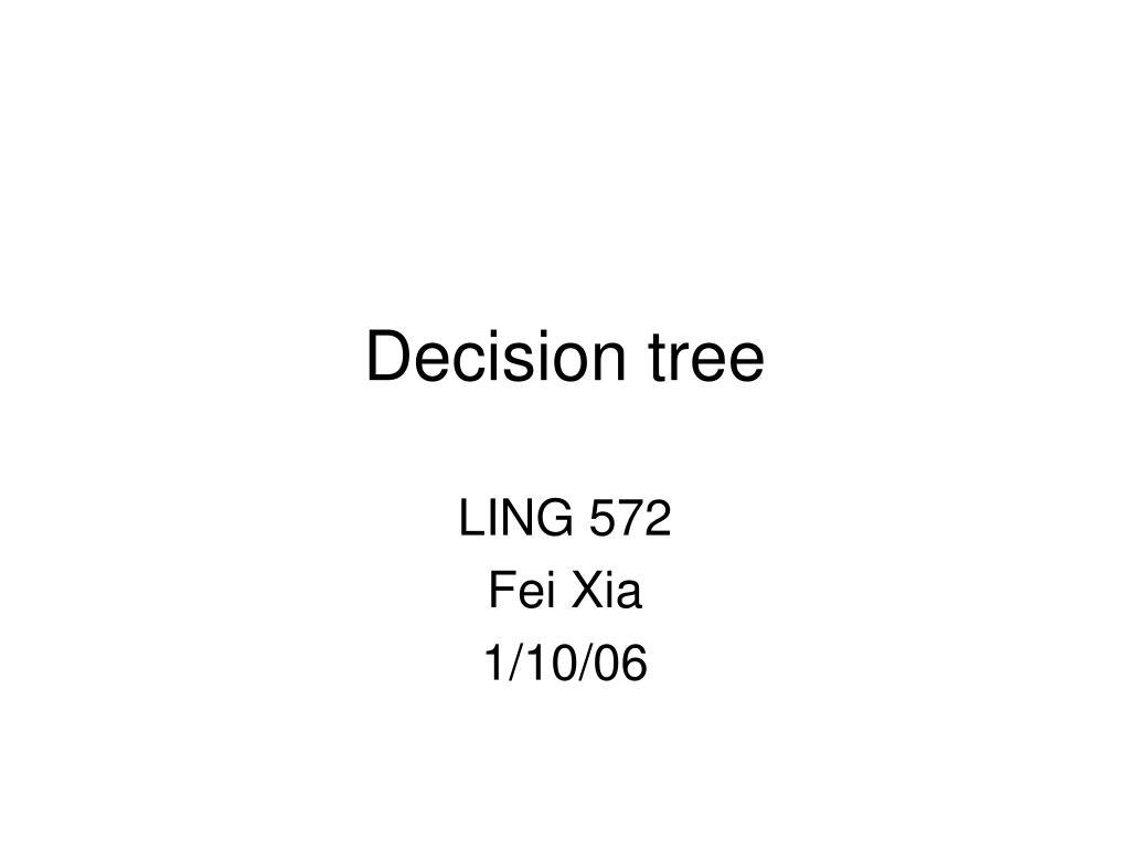 decision tree l.