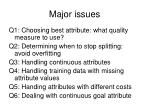 major issues12