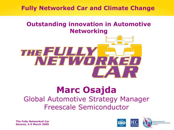 fully networked car and climate change n.