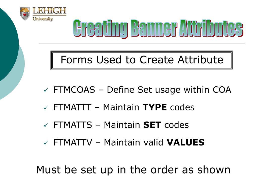 Creating Banner Attributes