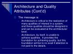 architecture and quality attributes cont d5