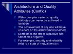 architecture and quality attributes cont d6