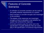 features of concrete scenarios