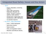 integrated road safety issues and key actors