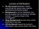 levels of attribution