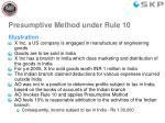 presumptive method under rule 10
