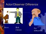 actor observer difference