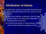 attribution of blame