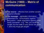 mcguire 1969 matrix of communication