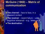 mcguire 1969 matrix of communication39