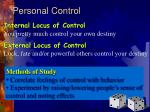 personal control