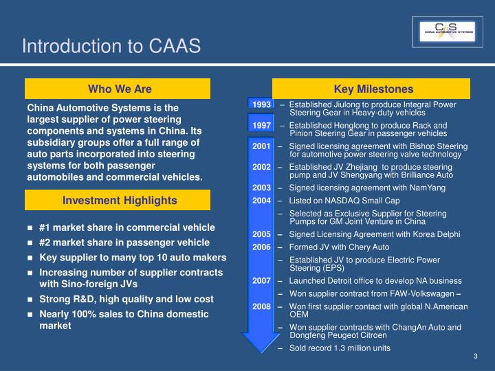 Introduction to caas