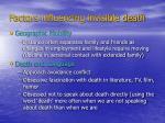 factors influencing invisible death6