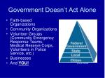 government doesn t act alone