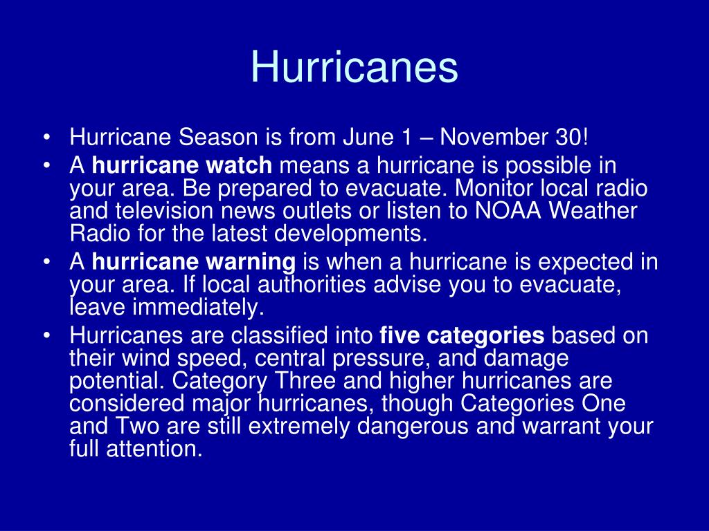 hurricanes are classified based on their wind power Download the hurricane facts & worksheets hurricanes are classified into five categories, based on their wind speeds and potential to cause damage.