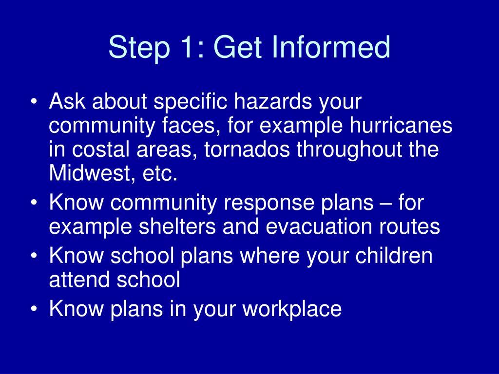 Step 1: Get Informed