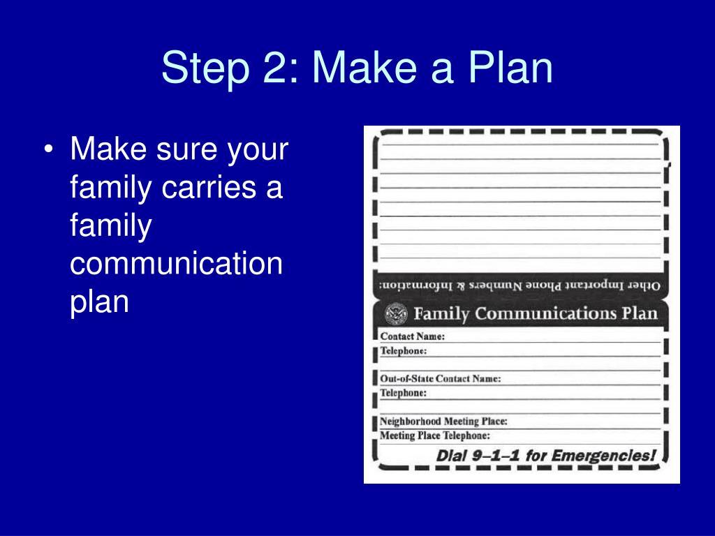 Step 2: Make a Plan