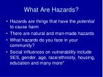 what are hazards