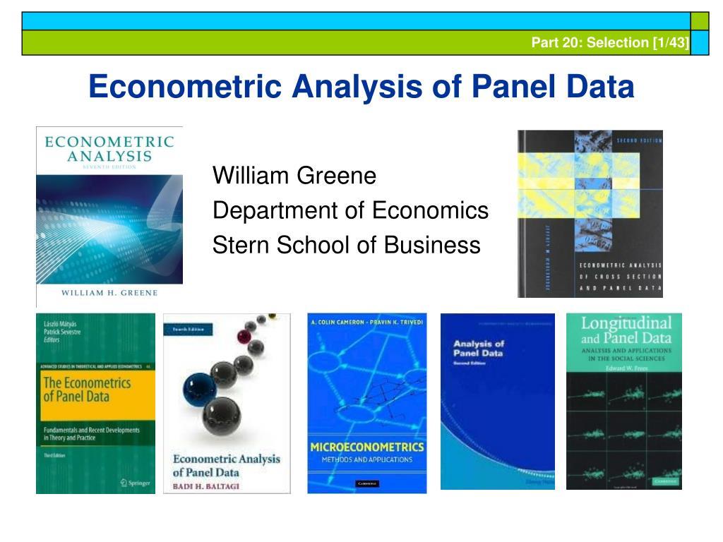 econometric analysis of panel data l.