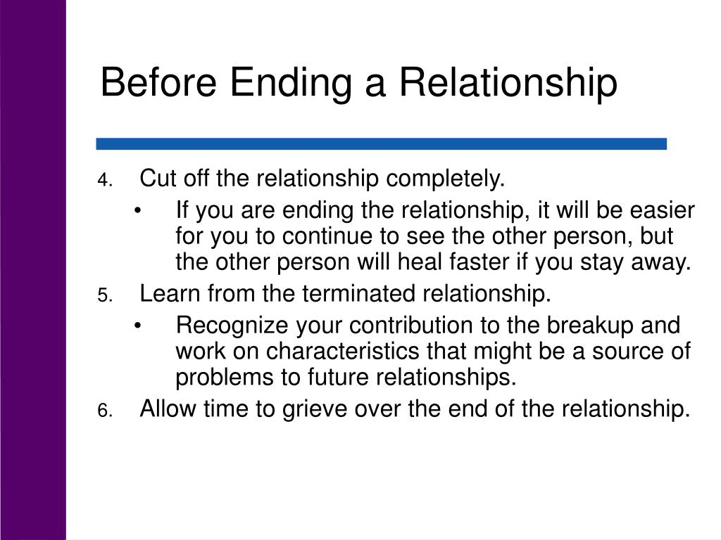 Before Ending a Relationship