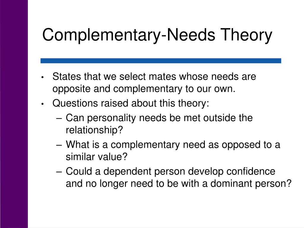 Complementary-Needs Theory