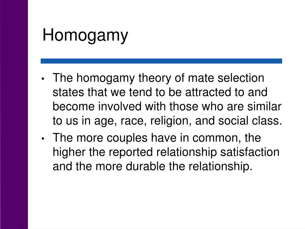 Homogamy