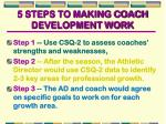 5 steps to making coach development work