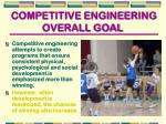 competitive engineering overall goal