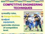 competitive engineering techniques
