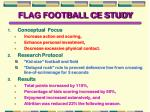 flag football ce study