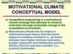 motivational climate conceptual model