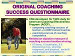 original coaching success questionnaire