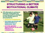 structuring a better motivational climate