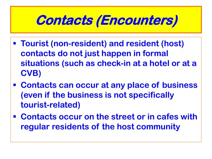 Contacts encounters