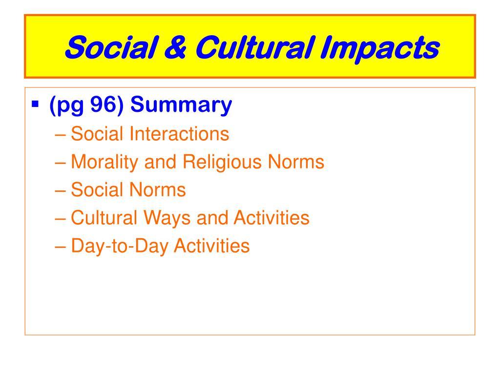 Social & Cultural Impacts