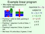 example linear program