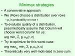 minimax strategies