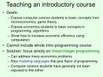 teaching an introductory course