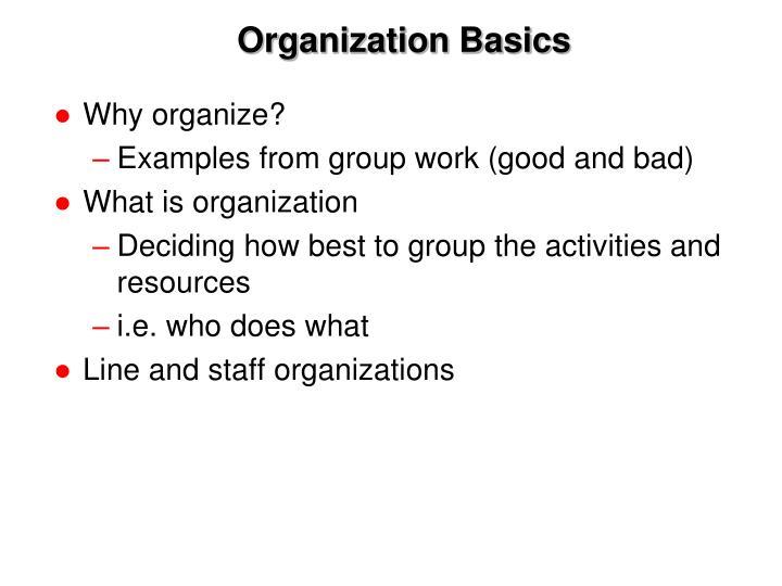 Organization basics2
